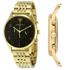 Brand New Emporio Armani AR1893 Gold PVD Plated Mens Chronograph Gents Watch