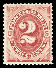 Scott J23 1891 2c Bright Claret Postage Due Issue Mint F-VF OG LH Cat $32.50