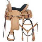 12 In Western Horse Saddle Barrel Racing Trail Child Youth Leather Tack U-0-12