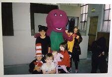 Vintage 1990s PHOTO Barney The Dinosaur Birthday Party On Halloween Warehouse