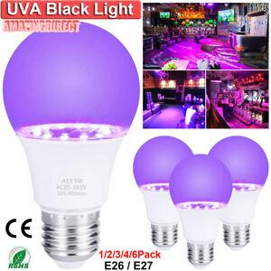 9W UV Light LED Black Light Bulbs Glow in The Dark Poster Neon Party Club Bar