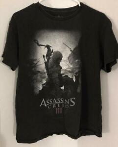 Assassins Creed III Black T Shirt Medium 100% Cotton 2012
