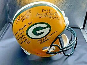 Paul Hornung Green Bay Packers SBI signed STAT full size Helmet - JSA /Coa #9/20