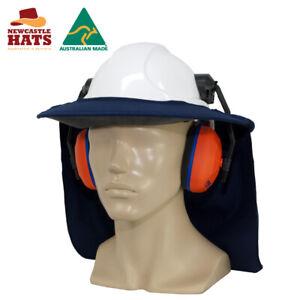 Newcastle Hats Earmuff Hard Hat Brim UPF50+ Sun Protection