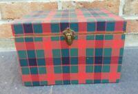 Ancienne boîte en bois Avec Compartiment Vintage Décoration