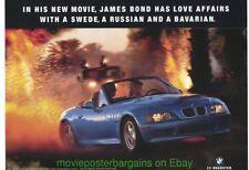 GOLDEN EYE Movie Poster JAMES BOND BMW Z3 ROADSTER Movie Tie-In PROMO
