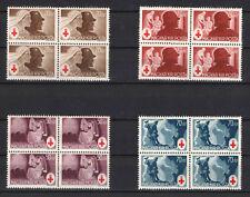 SPECIALS - Hungary 1944. Red Cross set in 4-blocks ( 0.99 USD ! ) MNH (**)
