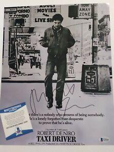 Robert DeNiro De Niro Signed Autographed Taxi Driver 11x14 PHOTO BECKETT