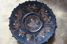 Antique Japanese Lacquer Meji Footed Plate