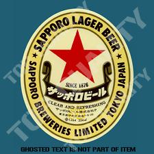 SAPPORO LAGER BEER JAPAN DECAL STICKER BAR FRIDGE COOLER ESKI MANCAVE SHED CAR