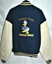 XXL rare NUMBERED Disney World Donald Duck Leather Jacket 70 Years Anniversary