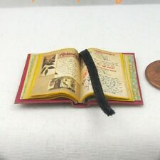 Open Book PRACTICAL MAGIC SPELL BOOK Miniature Dollhouse 1:12 Scale Illustrated