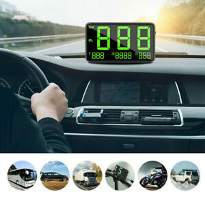 Digital Car GPS MPH KM/h HUD Display Speedometer Alarm For Universal Accessories