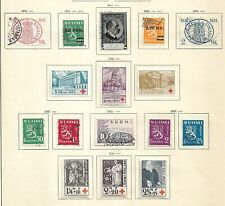 Finland 3 pages 1931-37 used and mh