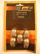 """Mr. Gasket Co. Wheels Nuts #1442 Steel 7/16"""" Left Hand - Chrome NOS Sealed Set"""