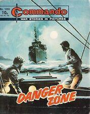 Commando For Action & Adventure Comic Book Magazine #1353 DANGER ZONE