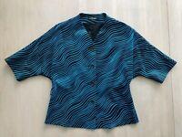 Vintage Helium moto cropped jacket women\u2019s size medium dark blue button up excellent condition