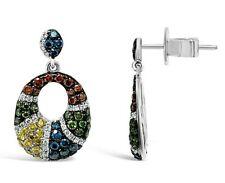 Le vian ® серьги с изображением синий/красный/белый/Fancy Diamonds - 14K ваниль золото ®