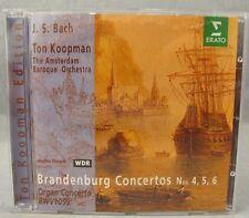 J.S. Bach - Brandenburg Concertos Nos. 4,5,6 & Organ Concerto cd Ton Koopman