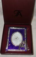 Taylor Avedon collectible Enamel Crystals Photo picture Frame purple w snake new