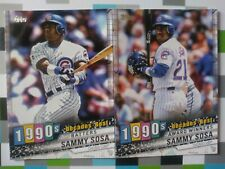 Sammy Sosa 2020 Topps Decades Best 2 Card Lot