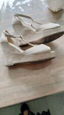 femme chaussure blanc crème  pointure 39 à talons