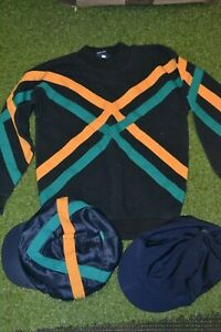 cross country set size 30 with 2 hat silks used good sweat shirt and hat silks
