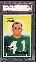 1955 Bowman Football #155 JERRY NORTON Philadelphia Eagles RC Rookie PSA 7 NM