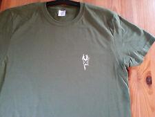 Jagd  T Shirt Herren  Größe S - XXL 100% Baumwolle   huntergrün Rehbock Jäger