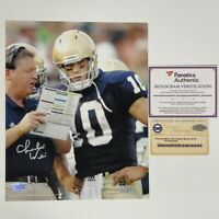 Autographed/Signed CHARLIE WEIS Notre Dame Irish 8x10 Photo Fanatics Steiner COA