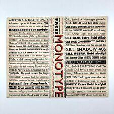 More details for monotype type specimen sheet, 1950s / 1960s?