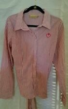 Authentic Princess Vera Wang Ladies Size 13 Striped Pink and White Blouse