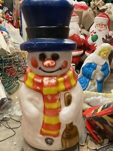 Large Snowman Blow Mold 43 Inches