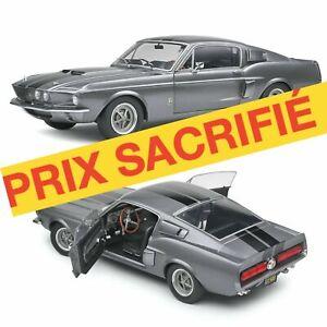 1/18 Solido Shelby GT500 Grey & Black Stripes 1969 Neuf Boîte Livraison Domicil