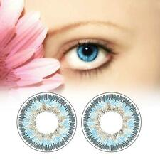 2pcs Contact Lenses Fresh Color Soft Big Eye Protection Cosmetic Lentile Blue AS