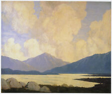 In West of Ireland Paul Henry print in 10 x 12 inch mount ready to frame SUPERB