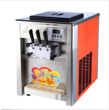 Commercial 3 Flavor Soft Ice Cream Machine Soft Ice Cream Cones Maker 220/110V B