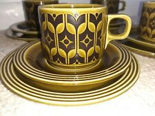 More details for 4 x hornsea green heirloom trio cup saucer side plate
