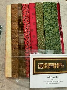 """Thimbleberries Quilt Kit,Pint Size Traditions II  fabric for Fall Sampler 8""""x24"""""""