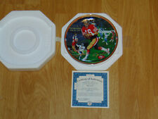 "Bradford Exchange Joe Montana ""The Catch"" Collector Plate New In Box w/ Cert"