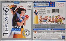 Disney's Snow White & the 7 Dwarfs Blu-ray/DVD/ Digital HD 2016 with Slip Cover