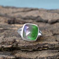 Watermelon Tourmaline Gemstone 925 Sterling Silver Artisan Handmade Gift Ring