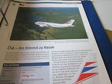 Airlines Archiv Tschechien CSA Czech Airleines Am Himmel zu Hause 8S