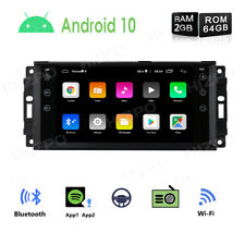 """Android 10 4-Core 64GB 7"""" Car Radio Stereo GPS For Jeep Wrangler Chrysler Dodge"""