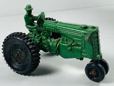 Vintage Cast Metal Minneapolis Moline Green Farm Tractor toy car truck