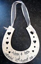 Personalised hand written wooden horseshoe wedding bride lovely gift