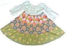 Matilda Jane Field Trip Pieced Peasant Celeste Dress size 8 Girls EUC