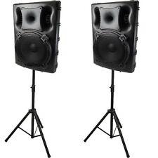 1300 Watt Aktiv Set Lautsprecher Box USB  MP3 Player PA Profi DJ Passiv Stativ