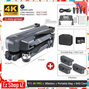 F11PRO GPS Foldable Brushless RC Drone 2K5G Wifi FPV HD Gimbal Camera Quadcopter