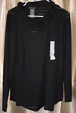 NEW Chelsea & Theodore Shadow Stripe Top & Tank BLACK NWT Small S Shirt Tunic